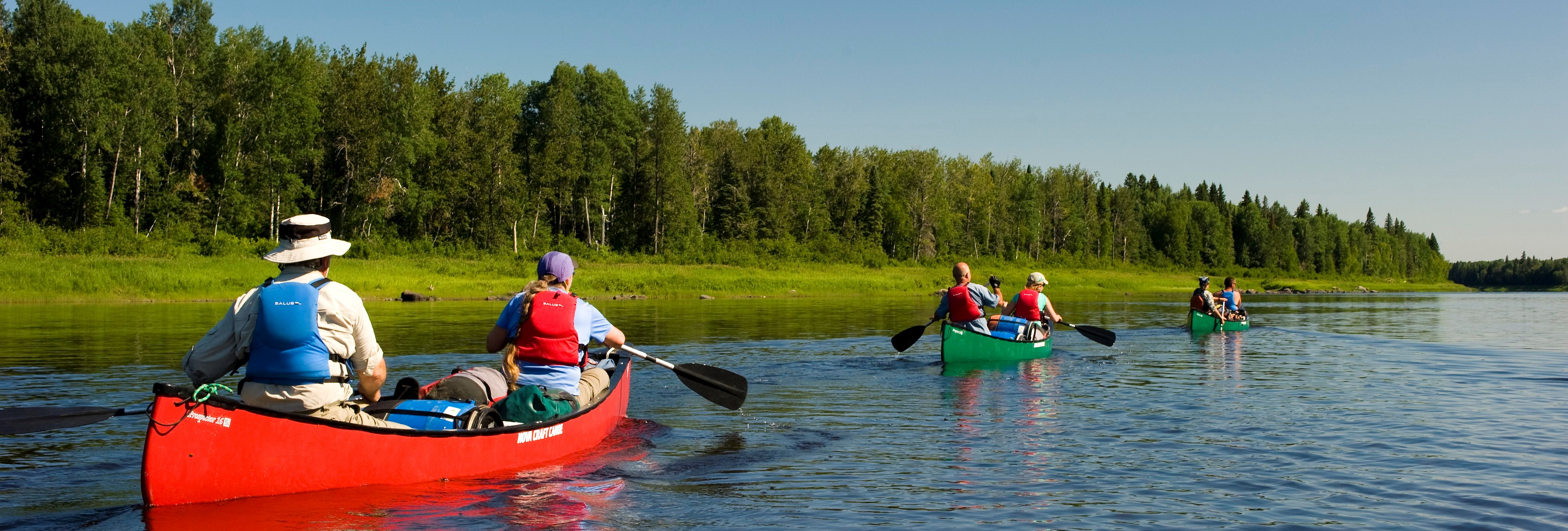Canoe trip, photo credit Ontario Tourism