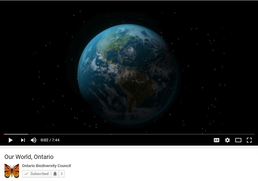 Our World, Ontario screenshot of video